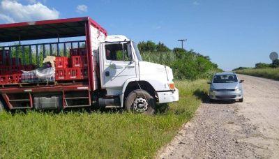 Cuatro hombres robaron $ 150 mil a transportistas