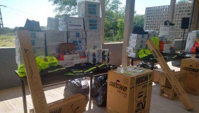 Entrega de equipamiento para la planta de transferencia de Girsu en San Pedro
