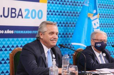 Alberto Fernández en la UBA :