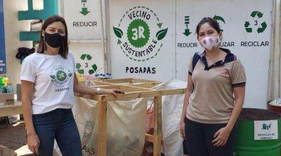 Desde el programa Vecino Sustentable de Posadas se trabaja en convertir residuos plásticos en eco-bloques