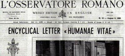 ¿Adiós a la 'Humanae vitae'?