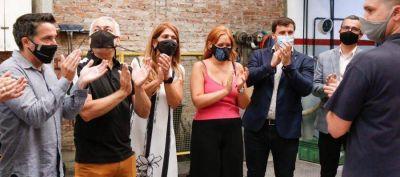 Avellaneda: Chornobroff, Ruiz Malec y Sierra visitaron La Cooperativa San Carlos