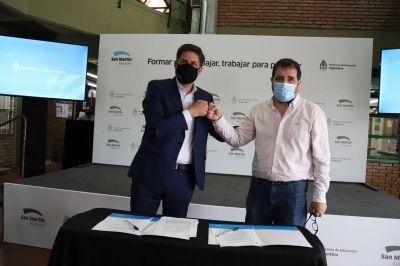 Fernando Moreira y Nicolás Trotta presentaron las Becas Progresar Trabajo 2021 en San Martín
