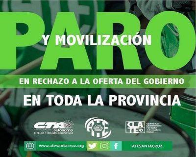 ATE para por 24 horas en toda la provincia de Santa Cruz