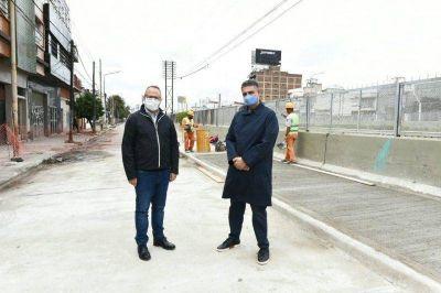 Valenzuela y Jorge Macri recorrieron obras en Tres de Febrero