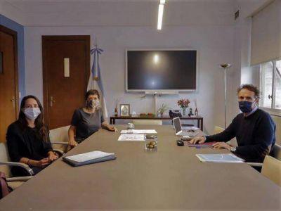 Mayra Mendoza se reunió con el ministro Katopodis para repasar el avance de las obras en el Distrito