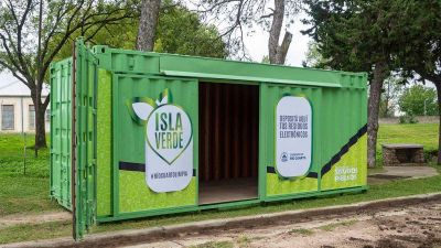 Basura electrónica: quedó habilitada una Isla Verde en Banda Norte
