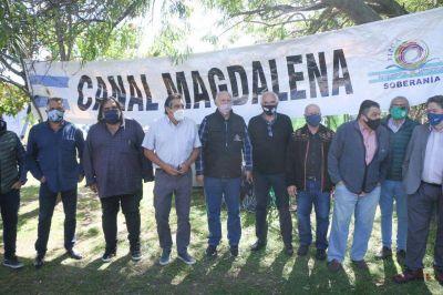 El Foro por la Soberanía realizó un acto en Isla Demarchi en defensa de la soberanía en el Canal Magdalena