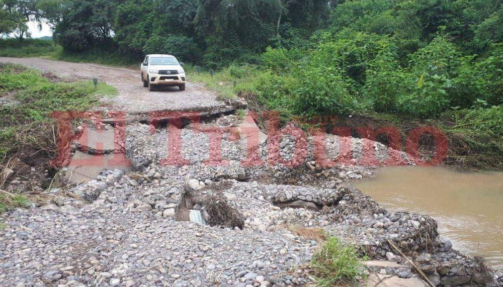 El puente de Arroyo Grande se rompió