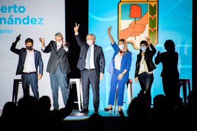 Con referencias al Pacto Social y al rol de los sindicalistas, Alberto asumió en el PJ nacional