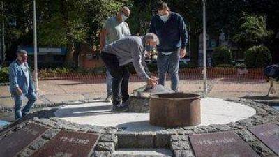 Continúa la puesta en valor del Monumento a los Caídos en Malvinas