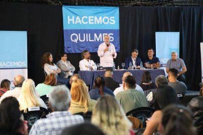 """En Quilmes, Grindetti acompañó a Di Giuseppe en el lanzamiento de la mesa de """"Hacemos"""""""