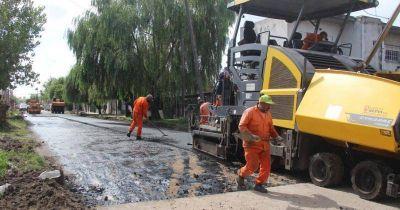 Así avanzan las obras de asfalto en Albertina y Budge