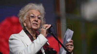Estela de Carlotto, a 45 años del golpe: