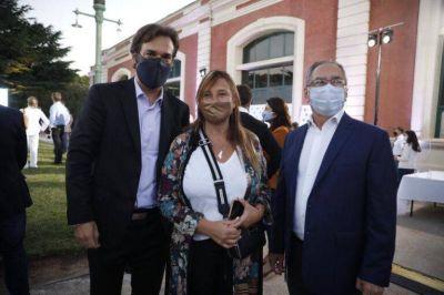 Karina Menéndez acompañó al presidente en el 15 aniversario de AYSA