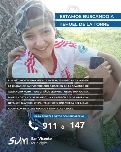 San Vicente: El Intendente Nicolás Mantegazza pidió por la aparición de joven trans desaparecido hace dos semanas