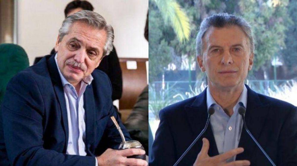 Alberto Fernández encabeza un acto mientras Mauricio Macri realiza un vivo de Instagram