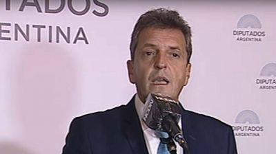 Massa, tras la aprobación de Ganancias en Diputados: