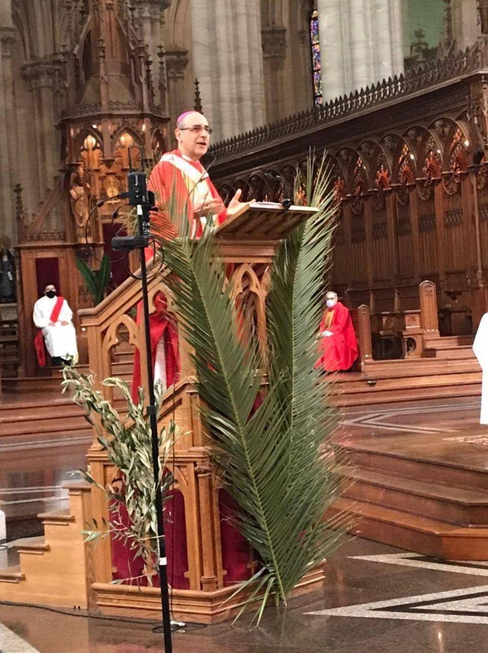 Bendición de ramos en la Catedral y otras virtuales en el inicio de Semana Santa