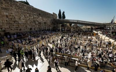 Muro de los Lamentos: Miles de judíos en la bendición sacerdotal