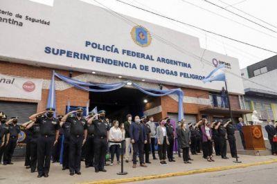 Mendoza y Frederic inauguraron sede de Drogas Peligrosas de la Policía Federal