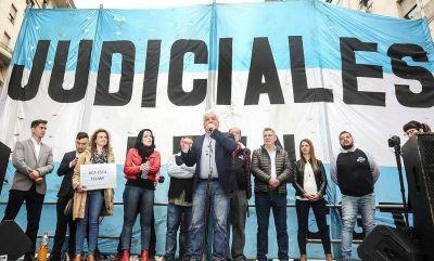 Con la conducción de Piumato: Judiciales convocan a paro nacional este martes