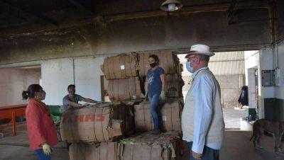 Entregaron 16540 kilos de cartón
