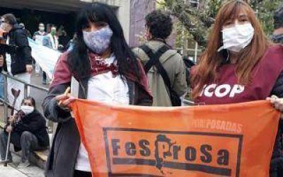 Marcha de médicos bonaerenses de Cicop en San Miguel