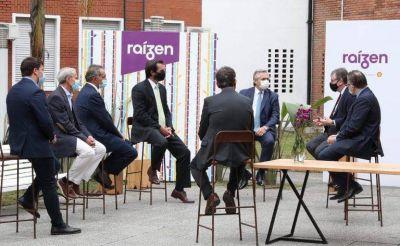 Chornobroff acompañó al presidente Alberto Fernández en recorrida por la empresa Raízen