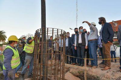 Comenzó la construcción de un puente en San Antonio de Padua