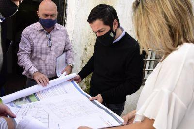 Nardini visitó la obra del centro de salud Santa María