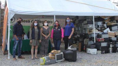 Recolectan 58 toneladas de residuos electrónicos en campaña de reciclaje