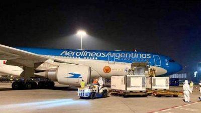 Llega al país otro avión de Aerolíneas con más dosis de Sputnik V