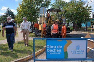 Avanza la obra municipal de bacheo en avenida Don Bosco