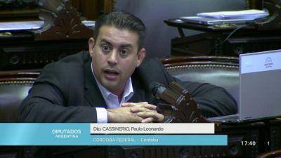 El diputado Cassinerio confirmó que tiene Covid-19 y permanecerá aislado