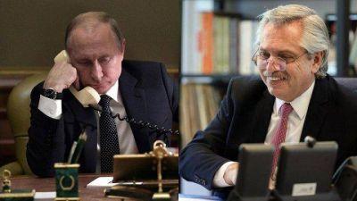 Fernández recibió un llamado de Putin para saber cómo está de salud