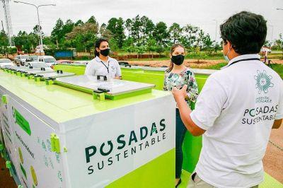 """El """"Ecopunto móvil"""" desembarcó en Itaembé Guazú"""