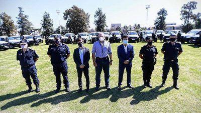 Kicillof, Berni y Espinoza pusieron en funcionamiento ochenta nuevos patrulleros en La Matanza