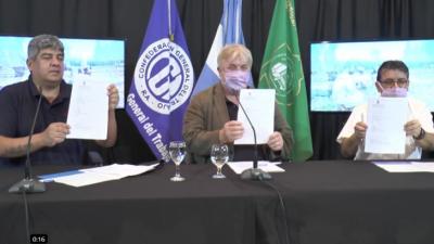 Uatre, Camioneros y el Comité contra la Trata firmaron el Convenio por el Trabajo Decente en el Ámbito Rural