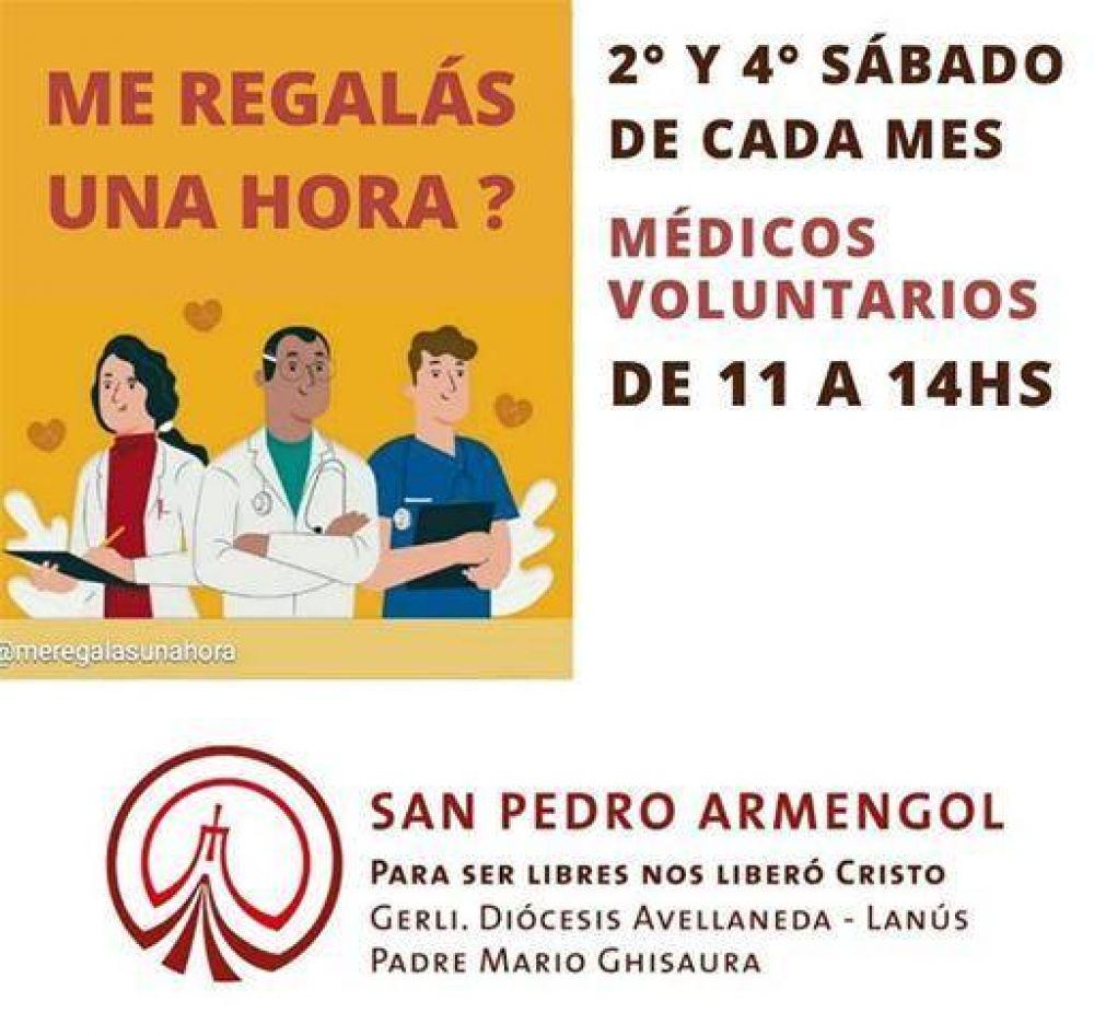 """Programa """"Me regalás una hora"""": Médicos voluntarios atienden de forma gratuita en la Parroquia San Pedro Armengol de Gerli"""