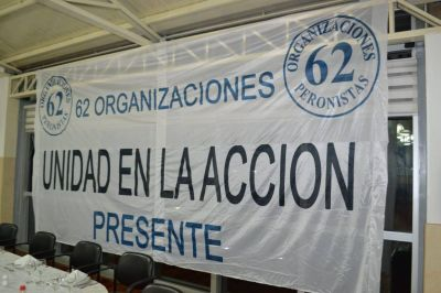 Las 62 Organizaciones apoyaron las medidas sanitarias de Alberto y recordaron que los trabajadores son los más expuestos