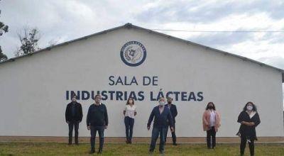 Inauguraron la sala de industrias lácteas en la Escuela Agraria de Mar Chiquita