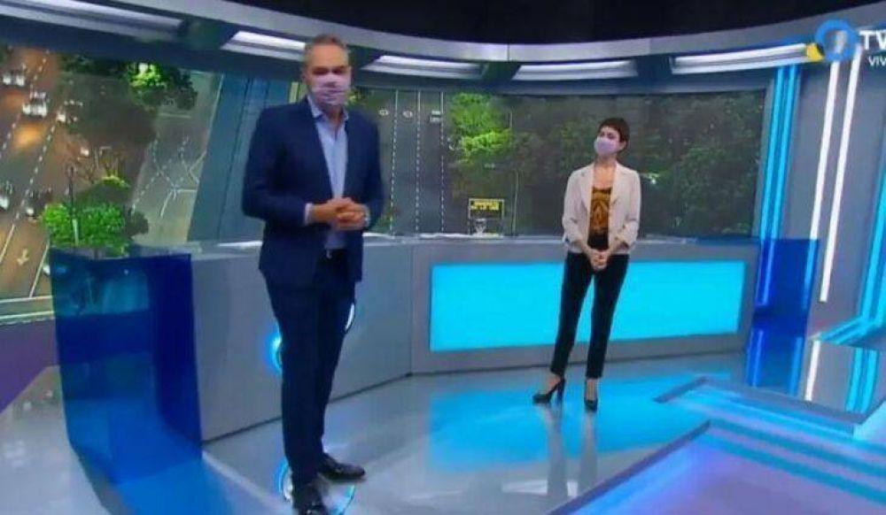 Tras la muerte de Mauro Viale, la Televisión se pone el barbijo