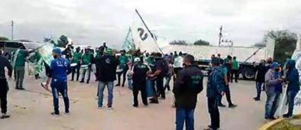 Protesta de trabajadores de Arcor-Bagley en Córdoba