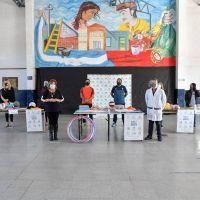 Entrega de insumos en un renovado establecimiento educativo de Don Orione