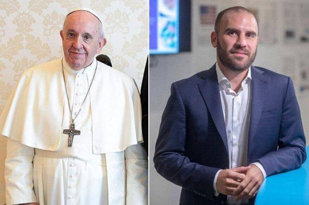 El Papa recibió a Martín Guzmán en el Vaticano para hablar de la deuda con el FMI