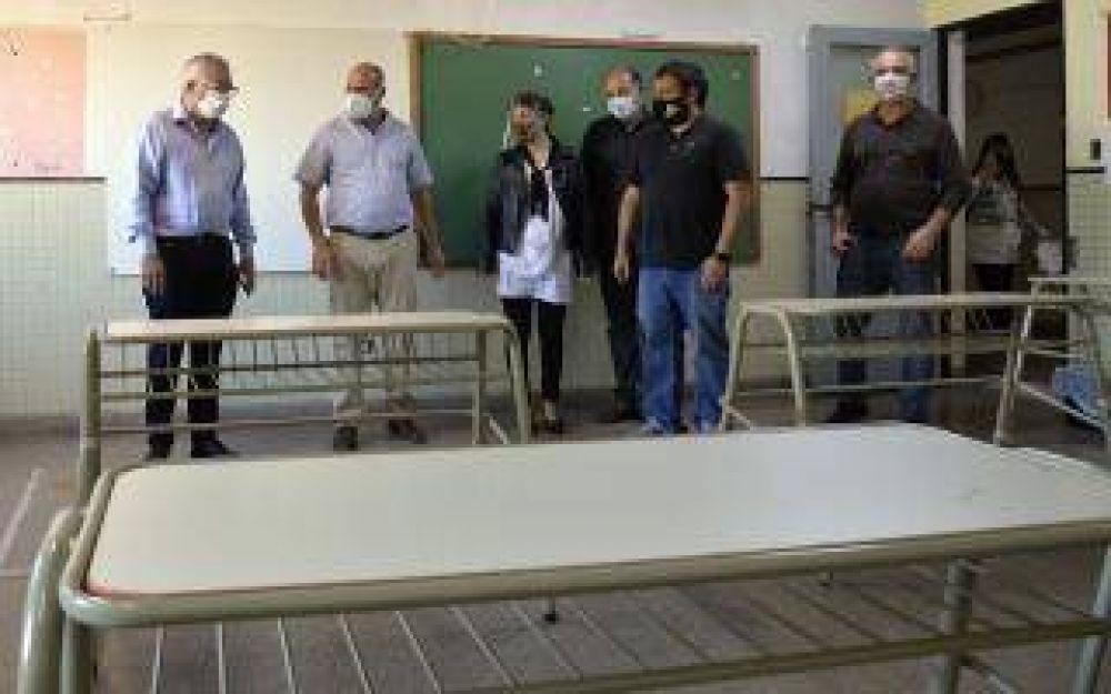 Zamora supervisó obras en escuelas de Tigre
