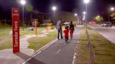 Lucas Ghi inauguró obras de iluminación en el Corredor Ferré
