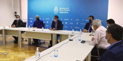 Sindicatos y el Gobierno nacional confirmaron la continuidad de la obra pública