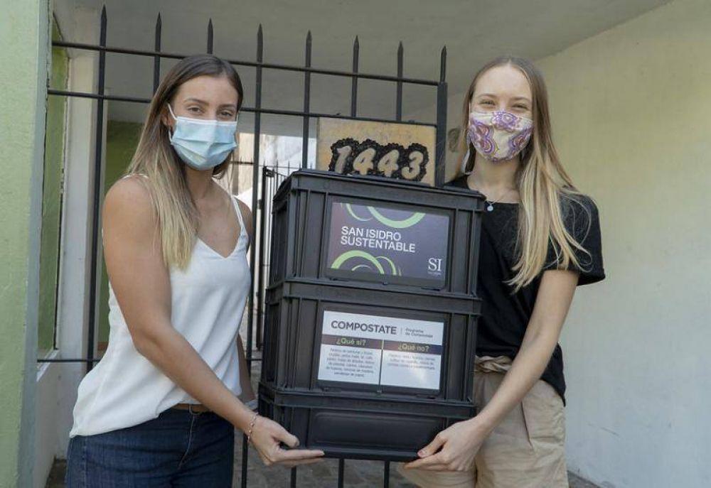 San Isidro: más de 1.000 vecinos ya recibieron la compostera para residuos orgánicos